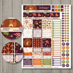 October Planner Stickers, Monthly Planner Stickers, Printable Planner Stickers, Happy Planner Stickers, Mambi Planner Stickers, Halloween Planner Stickers
