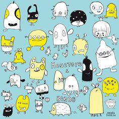Cute monsters « Vibeke Høie illustrations
