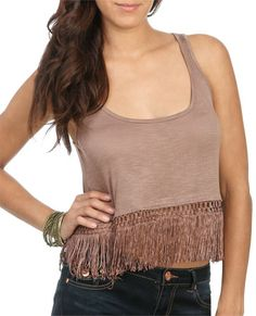 Fringe Bottom Cropped Tank from WetSeal.com$19.50