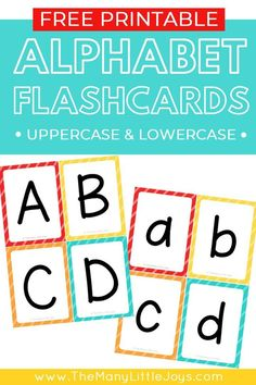 Make learning the ABCs fun with these free printable alphabet flashcards. This set includes separate cards for uppercase and lowercase letters, giving you endless possibilities for how to learn with your child. Alphabet Flash Cards Printable, Free Printable Alphabet Letters, Letter Flashcards, Alphabet Phonics, Teaching The Alphabet, Alphabet Cards, Phonics Worksheets, Abc Printable, Alphabet Sounds