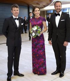 MYROYALS &HOLLYWOOD FASHİON: Celebrations of the 200th anniversary of Norway's constitution-The Danish and Norwegian Royal Families attended a gala performance at the Opera House in Norway, May 23, 2014-Crown Prince Frederik, Crown Princess Mary and Crown Prince Haakon