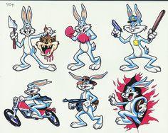 Cartoon Tattoo Drawings A funny devil cartoon tattoo - tattoes idea . Bunny Tattoos, Cartoon Tattoos, Cartoon Drawings, Cartoon Art, Art Tattoos, Tatoos, Bugs Bunny Pictures, Clip Art Vintage, Bugs Bunny Cartoons