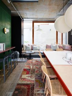 Alex Hotel responds to the overarching concept of the 'Hotel as Home'. Alex Hotel is new boutique hotel in Perth, Australia. Australian Interior Design, Interior Design Awards, Interior Decorating, Interior Modern, Kitchen Interior, Funky Home Decor, Cheap Home Decor, Cafe Design, House Design