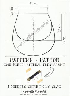 HELLO 50 Metal Internal Flex Purse Frame DIY Bag Accessories