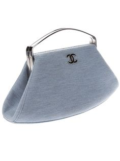 """""""Hello Chanel""""...  This is Dreamy  Unusual CHANEL vintage - lavender blue cotton bag"""