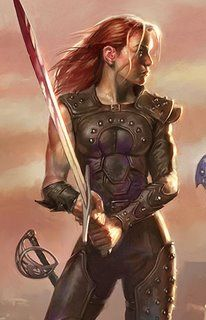 Catti-brie of Forgotten Realms. Artwork by Todd Lockwood. I can't figure out the copyright on this so if you repin it please leave the artist's name on it.