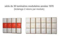 série de 30 luminaires design 1970 vintage
