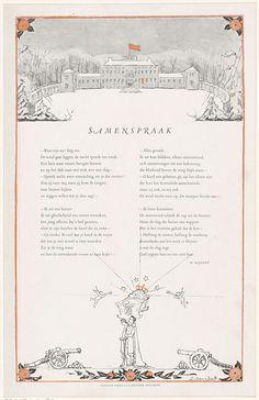 Rijmprent ter ere van de geboorte van Beatrix, koningin der Nederlanden, op 31 januari 1938, anoniem, 1938