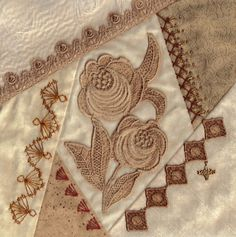 I ❤ crazy quilting & embroidery . . . Champagne block #24 ~By Marci H