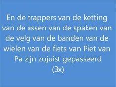 Henkie - De fiets van Piet van Pa (Met een versnelling) Like or Dislike, Comment and Suscribe. Lyrics: Hee Henkie! -Jaha Lekker fietsweer he! -Vies weer? Nee...