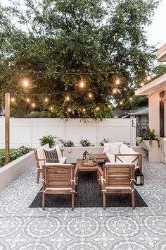 Cozy Backyard, Backyard Seating, Small Backyard Pools, Backyard Pavers, Small Backyard Design, Small Patio, Casa Patio, Diy Patio, Patio Ideas