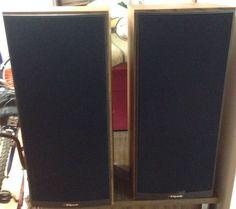 klipsch used speakers. pair of klipsch kg 4.2 oiled walnut floor standing speakers #klipsch - $400 obo + klipsch used
