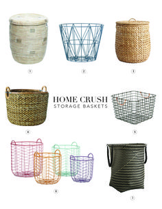 Our favorite ways to store your stuff, the prettiest Storage Baskets in this…