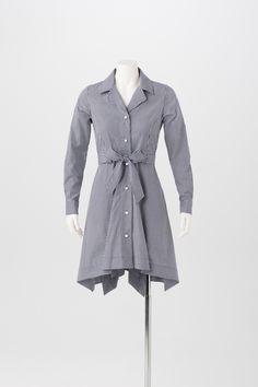 Jane Shirtdress in navy blue gingham is so on trend for Spring 2015!   www.shermanpickey.com