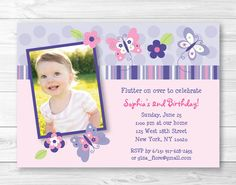 Hey, I found this really awesome Etsy listing at https://www.etsy.com/listing/155223027/pink-butterfly-birthday-invitation