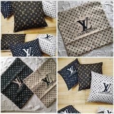 LV PILLOWS / BedroomBling