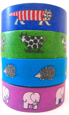 Japanese Washi Tape Japanese Designer Washi Tape by mechakucha808, $4.00 love the hedgehog!