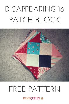Disappearing 16 Patch Block - @happyquiltingmc has made a sensational variation on the standard nine patch quilt block that becomes a gorgeous diamond pattern. Bring a new twist to your patchwork quilting with a different kind of nine patch quilt pattern.