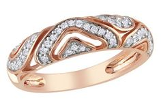 Rose Gold openwork design with diamonds. Lovely everyday ring