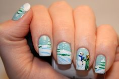 Christmas Nail Art | Ayesha Blog