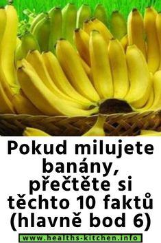 Pokud milujete banány, přečtěte si těchto 10 faktů (hlavně bod 6) Diabetes, Medicine, Fruit, Healthy, Food, Diet, Health, Essen, Meals