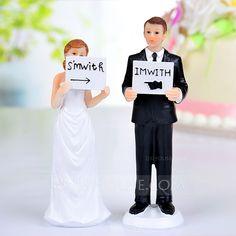 """1,5+ """"Io sono con lui / lei"""" Resina Matrimonio Decorazioni per torte (122036166)"""