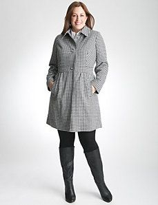 Houndstooth Babydoll Coat by Lane Bryant Really cute coat....really cute.