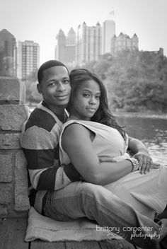 Piedmont Park Atlanta Engagement Photo Portrait Photography