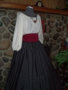 Renaissance Costume Civil War Skirt Day Dress by alottocollect, $59.95