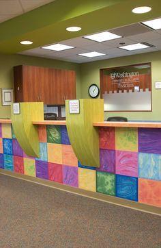 Other ideas for front desk design. Pediatric Medical Office Design