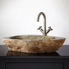 Etonnant Thebes Cobble Stone Vessel Sink | Signature Hardware
