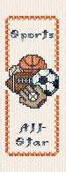 Sports bookmark cross stitch pattern.