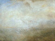 Seascape with Distant Coast Paisaje marino con costa distante Joseph Mallord William Turner 1840  Oil on canvas 914 x 1219 mm  The Tate Gallery, London