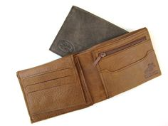 CINNAMON BROWN men's leather wallet No. 314 by AmielLeatherDesign, $47.00