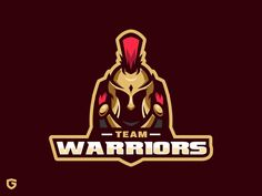 Team Warriors designed by Gudkraf. Warrior Logo, Logo Character, Knights, Badges, Warriors, Gaming, Darth Vader, Illustration, Movie Posters