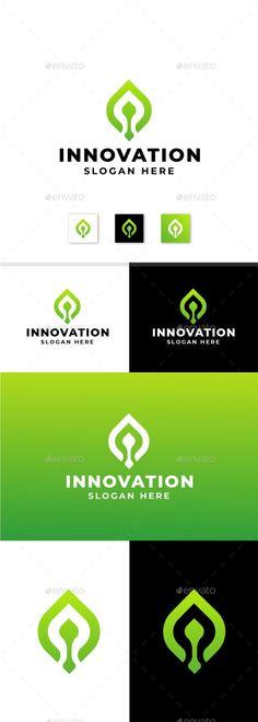 Industrial Innovation Leaf Concept - Nature Logo Templates Logo Design Template, Logo Templates, Portfolio Logo, Best Logo Design, Cool Logo, Teamwork, Slogan, Innovation, Industrial