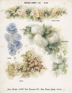Design Sheet 43 by Jean Sadler China Painting Study 1966 | eBay