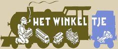 Logo 'Het winkeltje', a model train shop in Dordrecht, by Joost Swarte