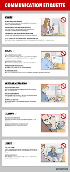 Communication etiquette for the office.