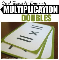 Multiplication Doubles Card Game - This Reading Mama