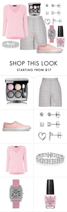 """Pink Prep"" by cindiawb ❤ liked on Polyvore featuring Chanel, Reiss, Vans, Ball, Polo Ralph Lauren and OPI"