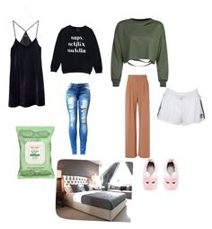 """""""Relax evening"""" by grograndahl on Polyvore featuring interior, interiors, interior design, home, home decor, interior decorating, Madewell, WithChic, Fleur du Mal and Burt's Bees"""
