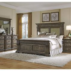 Bedroom sets on pinterest panel bed traditional bedroom for Bedroom furniture 78745