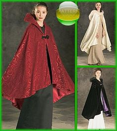 Simplicity 4947 Vintage Nouveau 1920's Opera Cloak/Cape Pattern