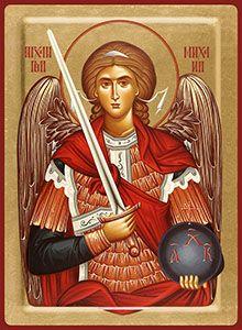 3/04 - Archangel Michael, icon Catholic Pictures, Jesus Pictures, Religious Icons, Religious Art, Gabriel, Archangel Tattoo, Orthodox Prayers, Paint Icon, Byzantine Icons