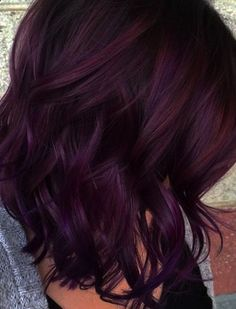 Blackberry hair colour, Hair color Hair color trends, Hair color burgundy, Hair, Burgundy hair - 35 Shades of Burgundy Hair Color for 2019 - Pelo Color Vino, Pelo Color Borgoña, Hair Color And Cut, Cool Hair Color, Short Hair Colors, Hair Colors For Fall, Amazing Hair Color, Trendy Hair Colors, Fall Hair Color For Brunettes