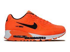 Nike Air Max 90 Chaussure Nike Officiel Pour Garçons/Filles Orange - Blanc - Noir