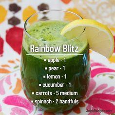 Rainbow Blitz // juice, juicing, juice cleanse, juice diet, fitness, health, nutrition, heathy, heath, weight loss, detox, healthy eating, food, fit, smoothie, smoothies, recipe