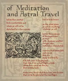 Of Meditation and Astral Travel - Book of Shadows 05 Page 1 by Sandgroan on deviantART Witchcraft Spell Books, Wiccan Spell Book, Wicca Witchcraft, Magick Spells, Witch Spell, Wiccan Witch, This Is A Book, The Book, Astral Plane