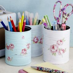 Keep Your Workspace Clear With An Upcycled Desk Tidy prima.co.uk